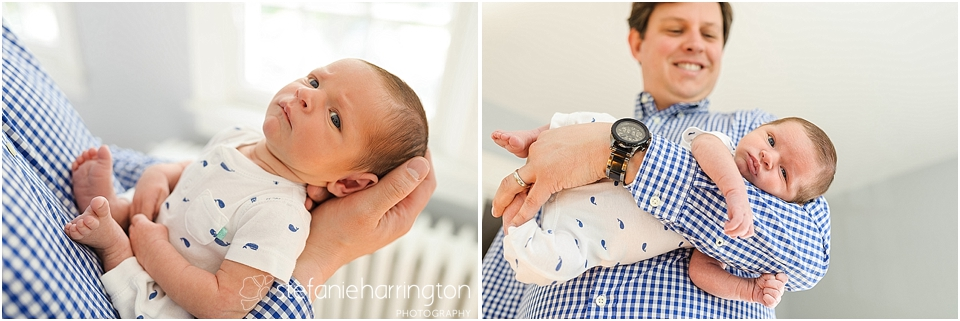 Washington dc newborn photographer captures new dad with baby boy