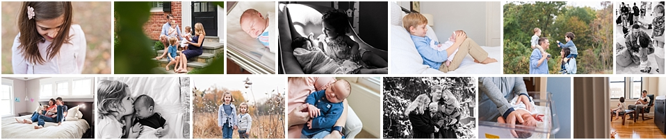 maternity fresh 48 newborn photographer dc | compilation of family photos from maternity through newborn days